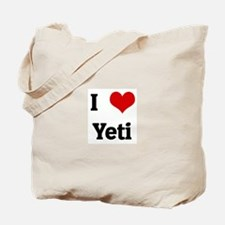 I Love Yeti Tote Bag
