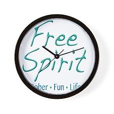 Free Spirit - Sober Fun Life Wall Clock