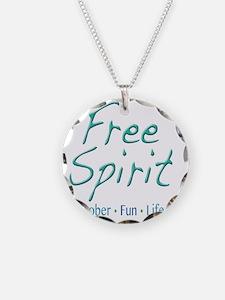 Free Spirit - Sober Fun Life Necklace Circle Charm