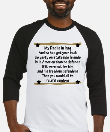 My Daddy's Got Your Back Baseball Jersey