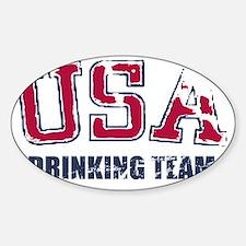 USA Drinking Team Sticker (Oval)