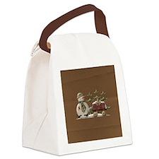 snowmanornament1 Canvas Lunch Bag