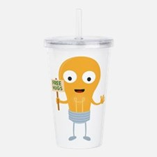 light bulb free hugs h Acrylic Double-wall Tumbler