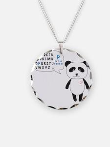 Alphabet Panda Necklace