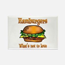 Hamburgers to Love Rectangle Magnet (10 pack)
