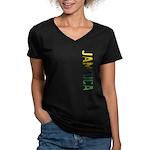 Jamaica Women's V-Neck Dark T-Shirt