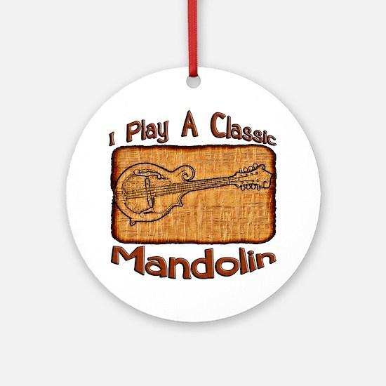 Classic Mandolin Round Ornament