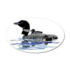 loon with babies Wall Decal