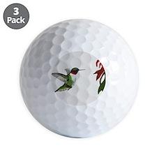 Hummingbird and Bee Balm Golf Ball