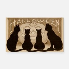 Halloween Black Cats Rectangle Car Magnet