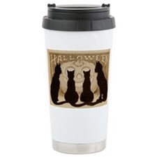 Halloween Black Cats Travel Mug