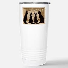Halloween Black Cats Travel Mug