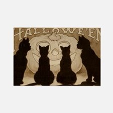 Halloween Black Cats Rectangle Magnet
