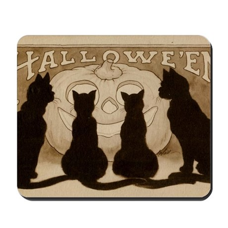 Halloween Black Cats Mousepad
