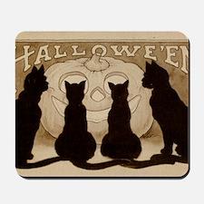 Halloween Black Cats Mousepad
