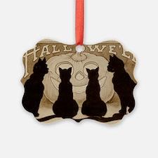 Halloween Black Cats Ornament