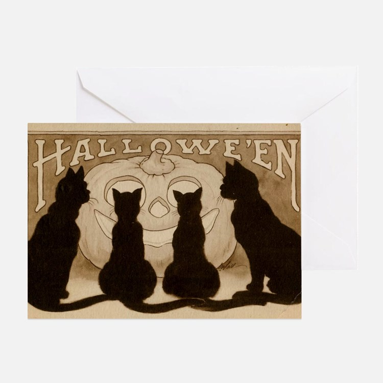 vintage black cat greeting cards card ideas sayings. Black Bedroom Furniture Sets. Home Design Ideas