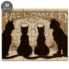 Halloween Black Cats Puzzle