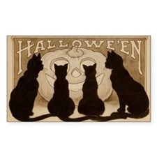Halloween Black Cats Decal