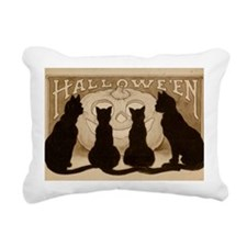 Halloween Black Cats Rectangular Canvas Pillow