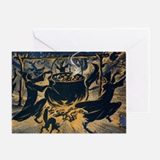 Vintage Halloween Witches Greeting Card