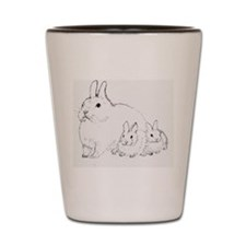 Bunny Trio Shot Glass