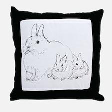 Bunny Trio Throw Pillow