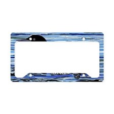 loon with babies License Plate Holder