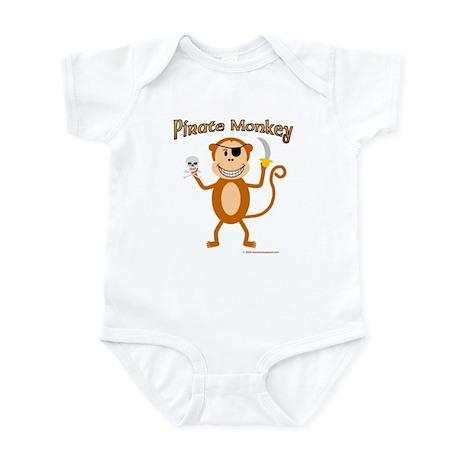 Pirate Monkey baby onesie