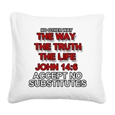 One Way Square Canvas Pillow
