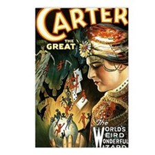 Vintage Magician Carter Postcards (Package of 8)