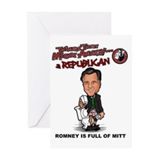 Romney is Full of Mitt Greeting Card