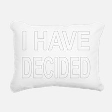Decided Rectangular Canvas Pillow