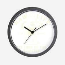 Vintage Raw for Life Wall Clock