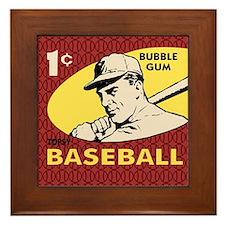 Bubble Gum Baseball Framed Tile