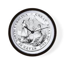 North Carolina State Seal Wall Clock