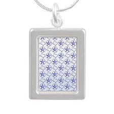 Texas Star Silver Portrait Necklace