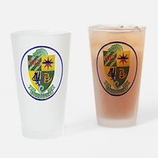 uss sigourney patch transparent Drinking Glass
