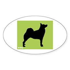 Buhund iPet Oval Decal