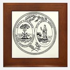 South Carolina State Seal Framed Tile