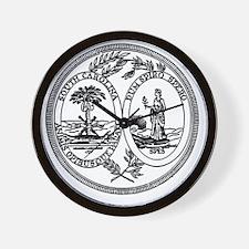 South Carolina State Seal Wall Clock