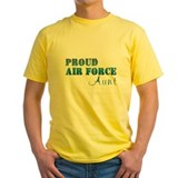 Air force aunt Mens Yellow T-shirts