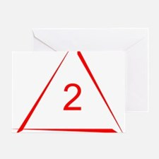 2oM – Open Mind - Red Greeting Card