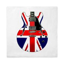 Union Jack Guitar Queen Quilt
