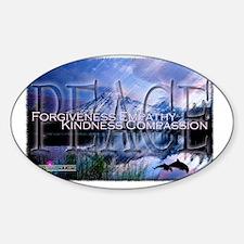 CE - Peace Sticker (Oval)