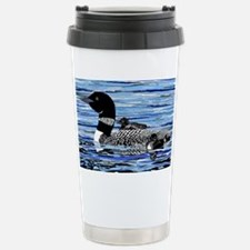 loon with babies Stainless Steel Travel Mug