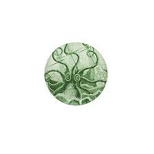 Green Kraken Mini Button