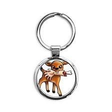 killer bambi Round Keychain