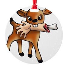 killer bambi Round Ornament