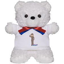 Blonde Army Desert Camo Teddy Bear